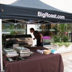 Hog Roast Setting Up For An Event