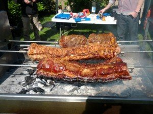 Our BBQ option instead of a hog roast